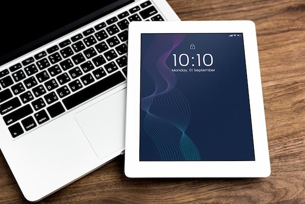Vorlage für digital-tablet-bildschirm Kostenlosen PSD