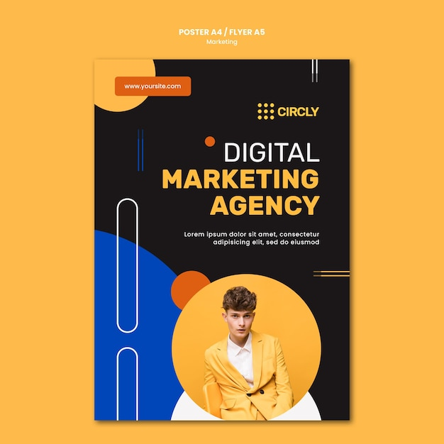 Vorlage für digitales marketingplakat Kostenlosen PSD
