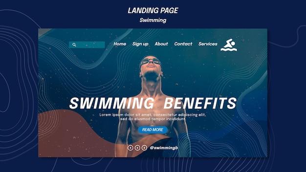 Vorlage für landingpage-schwimmvorteile Kostenlosen PSD