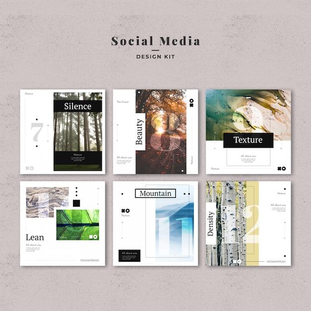 Vorlage für social media-vorlagen Premium PSD
