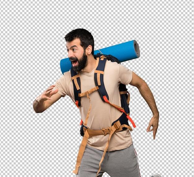 Wanderer mann zu fuß Premium PSD