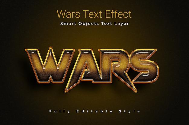 Wars-texteffekt Premium PSD
