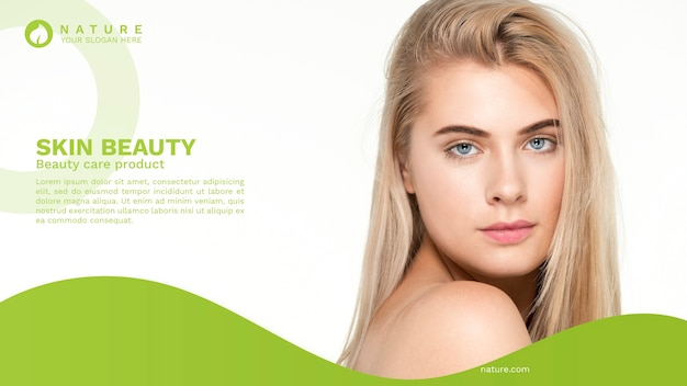 Web-banner-vorlage mit beauty-konzept Kostenlosen PSD