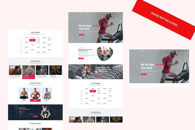 Web-design, psd-vorlage. fitness- und fitnesskonzept. Premium PSD