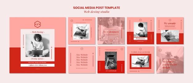 Web studio design social media post vorlage Premium PSD