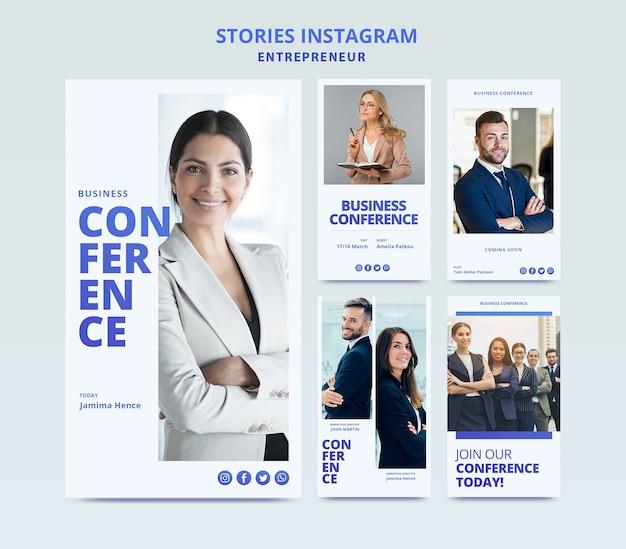 Web template für business instagram geschichten Kostenlosen PSD