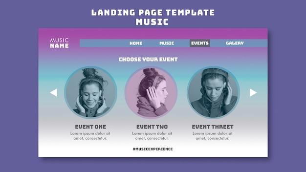 Web-vorlage für musikerlebnisse Premium PSD