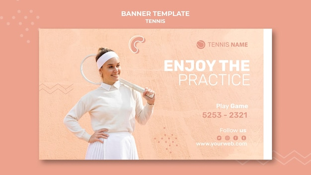 Web-vorlage für tennisübungen Kostenlosen PSD