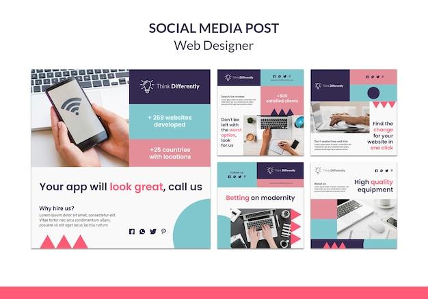 Webdesign-konzept-banner-vorlage Kostenlosen PSD
