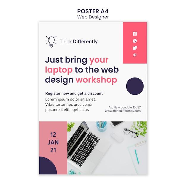 Webdesign-konzeptplakatschablone Kostenlosen PSD