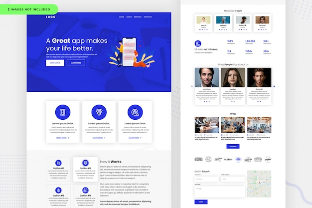Website-seitendesign Premium PSD