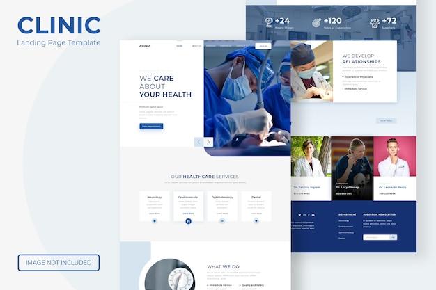Website-vorlage für die zielseite der klinik Premium PSD