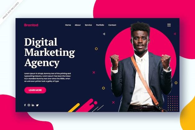 Webvorlage der agentur für digitales marketing Premium PSD