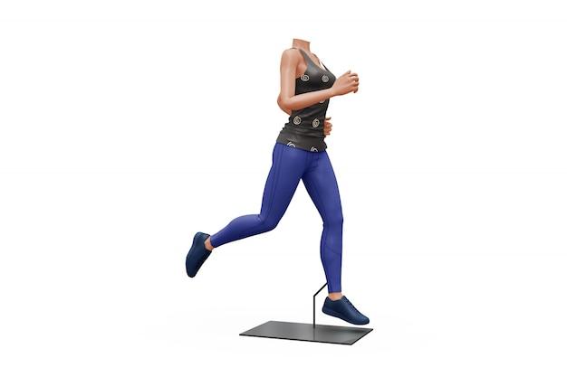 Weibliches sportausstattungs-modell lokalisiert Kostenlosen PSD