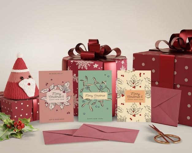 Weihnachten mit karte und geschenken gefeiert Kostenlosen PSD