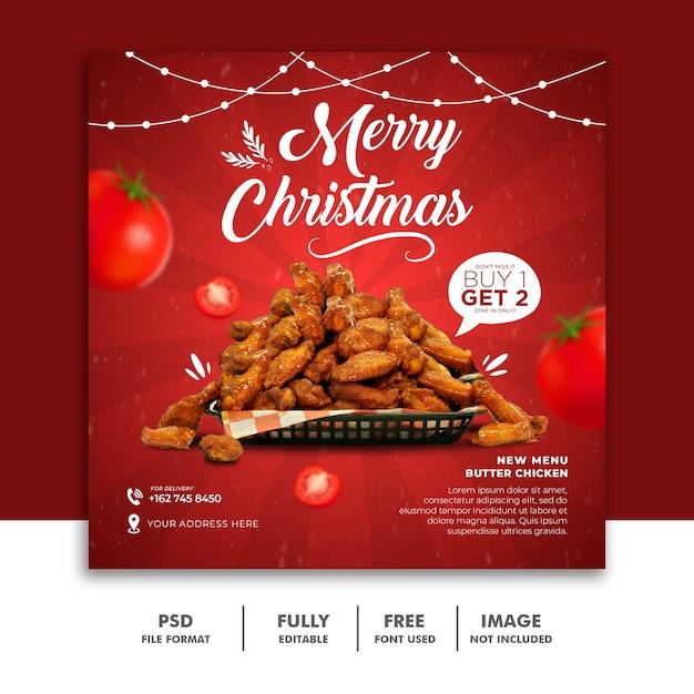 Weihnachten social media post banner vorlage Premium PSD