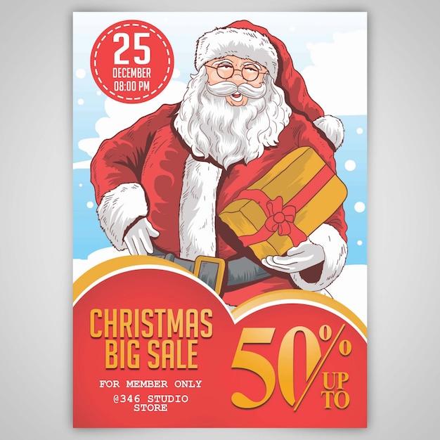 Weihnachten weihnachtsmann grosse verkauf schablone Premium PSD