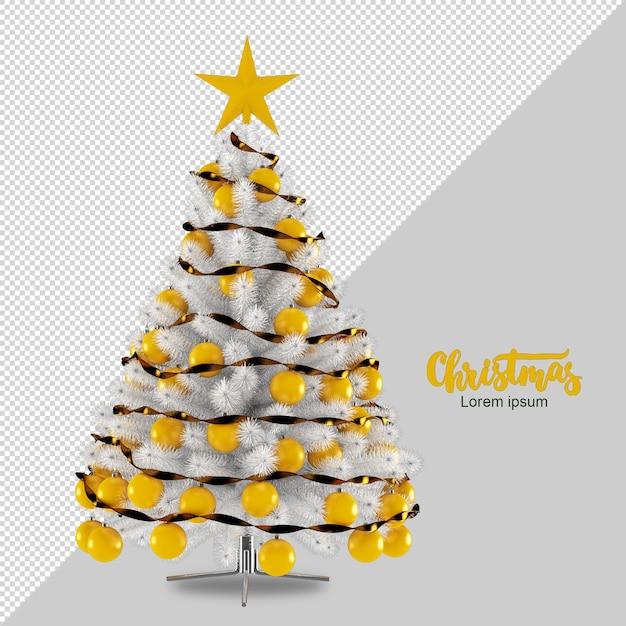 Weihnachtsbaum in 3d gerendert Premium PSD