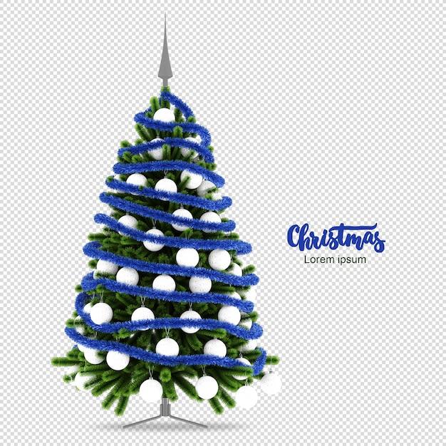 Weihnachtsbaum in 3d lokalisiert gerendert Premium PSD