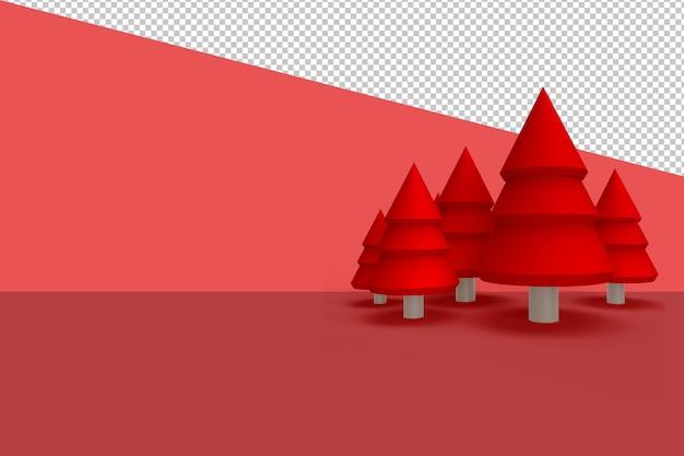 Weihnachtsbaum in 3d lokalisiert lokalisiert gerendert Premium PSD