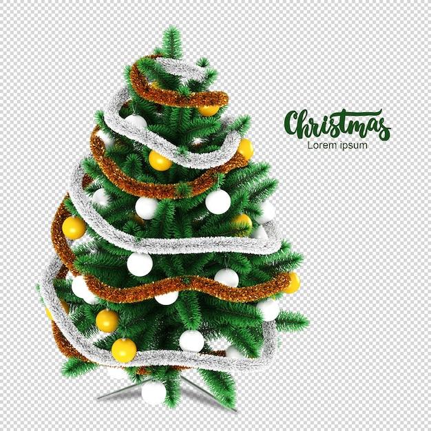 Weihnachtsbaum in der 3d-darstellung lokalisiert Premium PSD