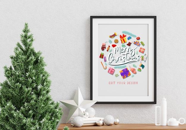 Weihnachtsfeiertagsgruß rahmendesign Kostenlosen PSD