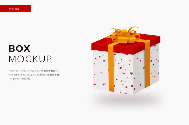 Weihnachtsgeschenkbox-modell im modernen designstilmodell Premium PSD