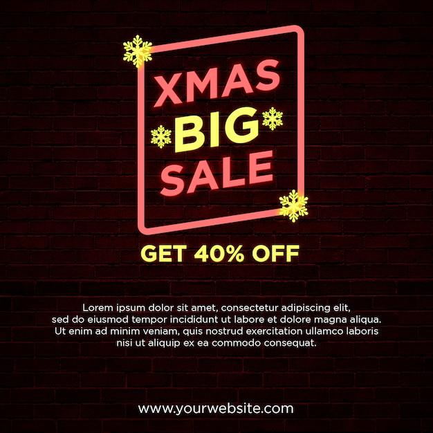 Weihnachtsgroße verkaufsquadratfahne Premium PSD