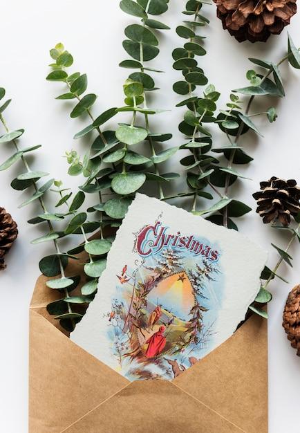 Weihnachtskarte wünschen Kostenlosen PSD