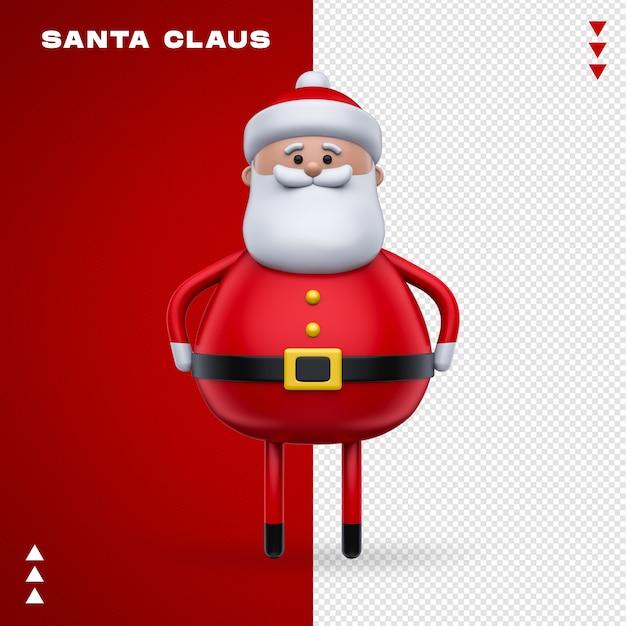 Weihnachtsmann 3d im 3d-rendering Premium PSD