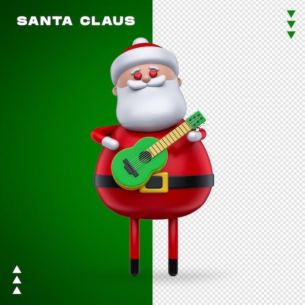 Weihnachtsmann 3d rendering isoliert Premium PSD