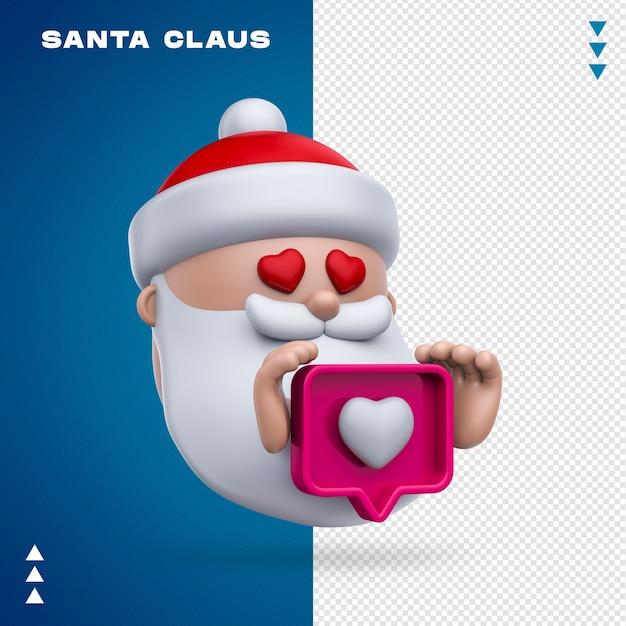 Weihnachtsmann wie 3d-rendering isoliert Premium PSD