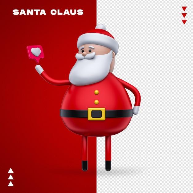 Weihnachtsmann wie beim 3d-rendering Premium PSD