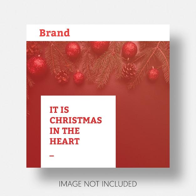 Weihnachtssocial media beitrag schablone instagram Kostenlosen PSD