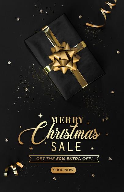 Weihnachtsverkauf banner titelseite website. Premium PSD
