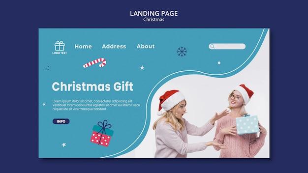 Weihnachtsverkauf landingpage vorlage Kostenlosen PSD