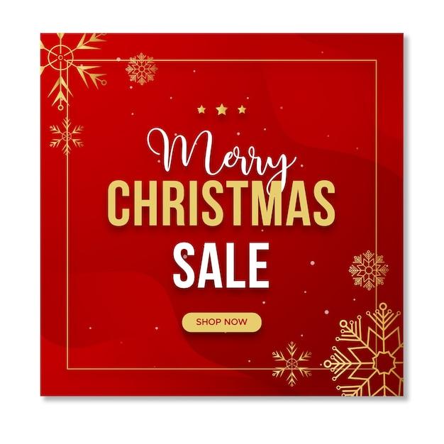 Weihnachtsverkauf social media instagram post vorlage Premium PSD
