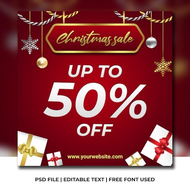 Weihnachtsverkaufs-social media-schablone Premium PSD
