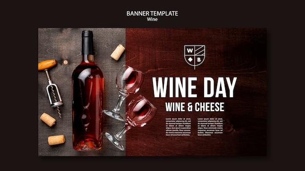 Wein banner vorlage design Kostenlosen PSD