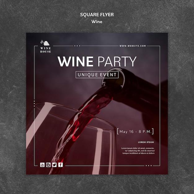 Wein flyer vorlage Kostenlosen PSD