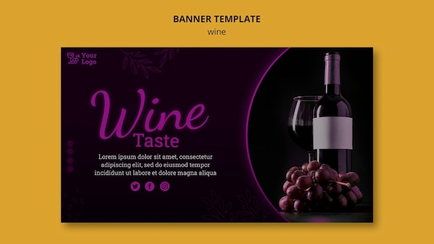 Wein werbebanner vorlage Kostenlosen PSD