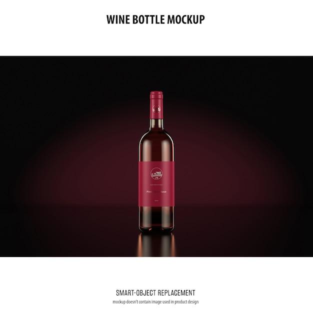 Weinflasche mockup Kostenlosen PSD
