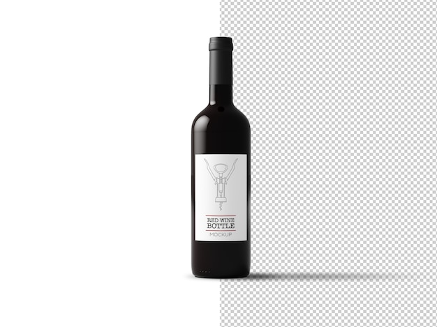 Weinflaschenetikettmodell isoliert Premium PSD