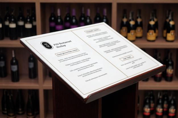 Weinmenü psd mockup Premium PSD