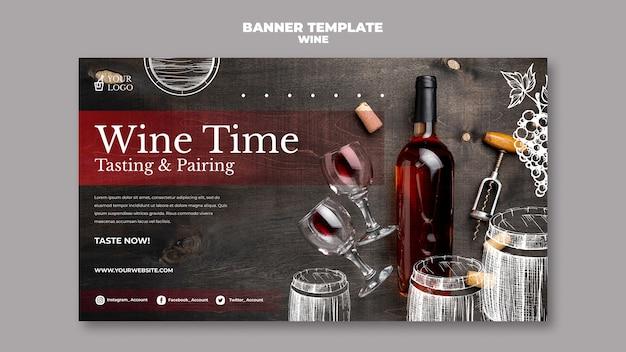 Weinprobe banner vorlage design Kostenlosen PSD