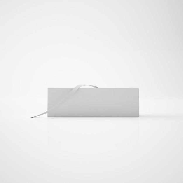 Weiße box mit band Kostenlosen PSD