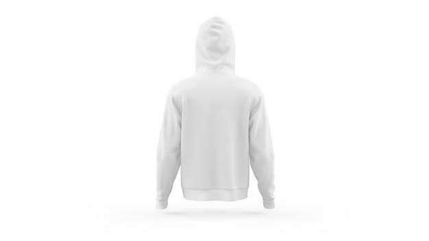 Weiße hoodie-modellschablone lokalisiert, rückansicht Kostenlosen PSD