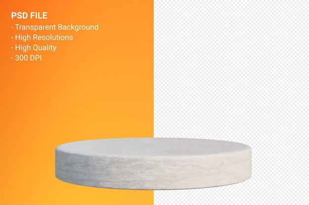 Weiße minimale marmor-podest-darstellung isoliert Premium PSD