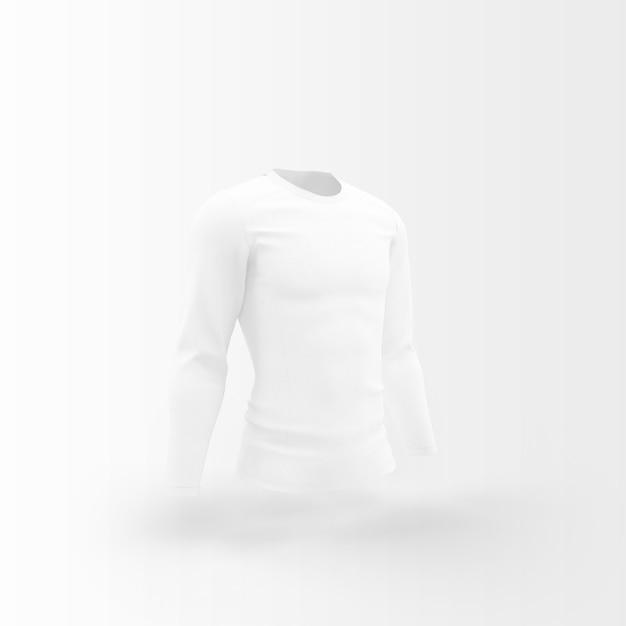 Weiße silhouette des t-shirts Kostenlosen PSD