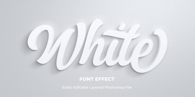 Weiße textstil-effektschablone Premium PSD